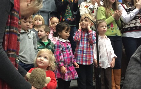 The Little Knights performed two different Christmas songs to kick-off the after-liturgy celebration.
