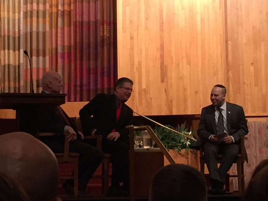 Mr. John Donovan and Mr. Francis Gary Powers Jr. spoke at the Beth El Synagogue.