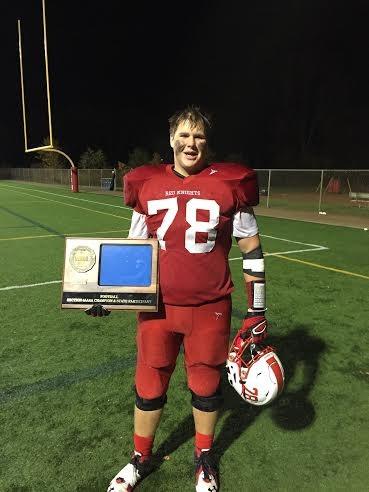 Wilson plays on the Varsity Football Team and now serves as Captain.