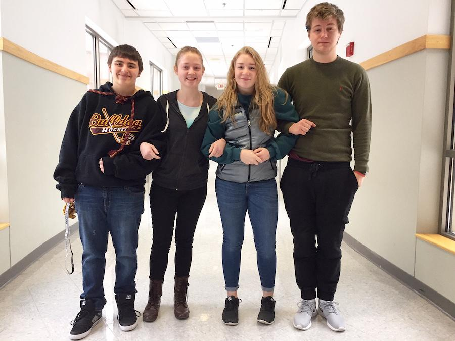 Seniors Kayla McMenamy and Jack Meshbesher, junior Alex Aldes and Daniel McMenamy, and sophomore Landry Elman will all be going to Qatar with Destination Imagination