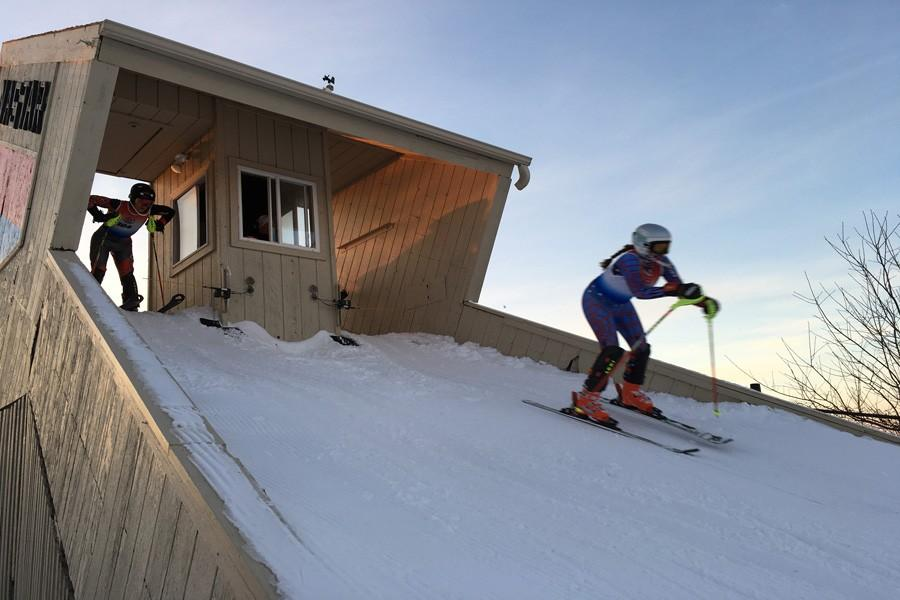 Alpine skiers say that their sport is superior because they go down the hill rather than up it.