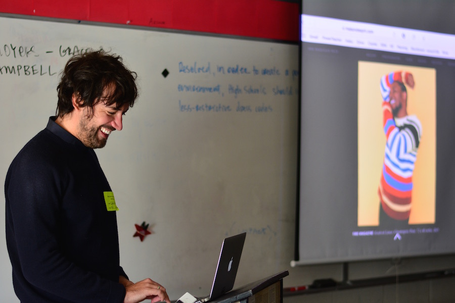 Heck visited Journalism classes to discuss his work in photography.