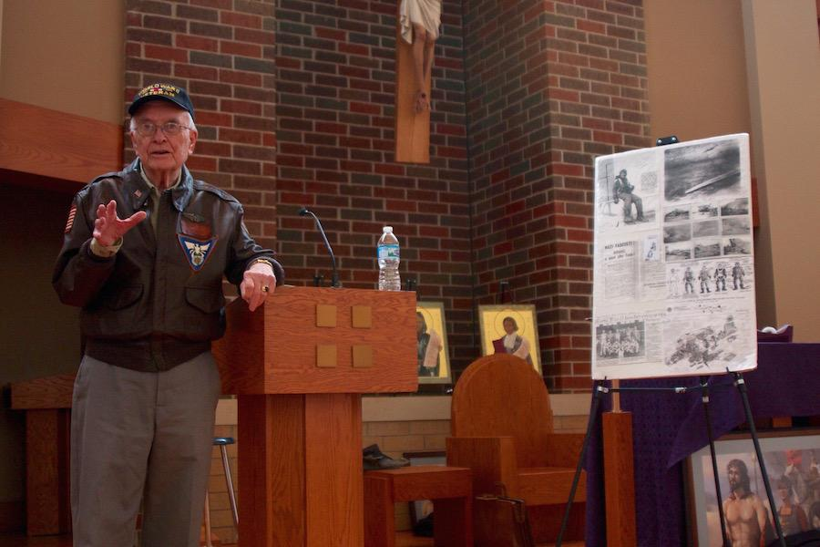 Staff Sergeant Parker spoke with BSM students about his experiences in World War II.