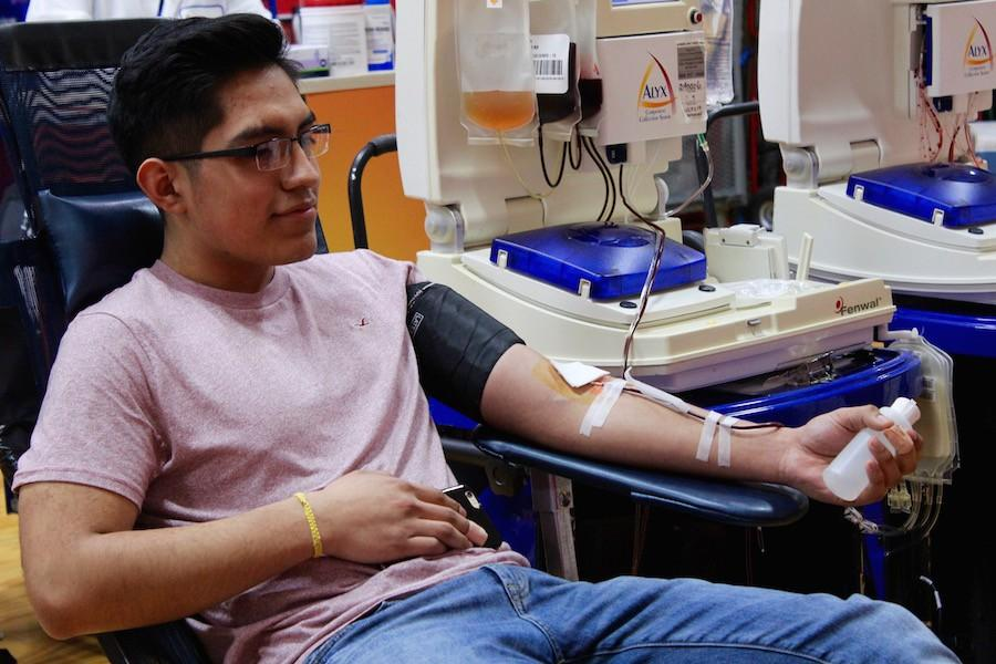 NHS hosts their blood drive twice per year.