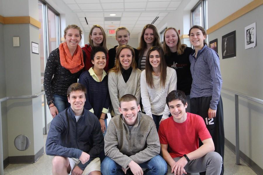 The+14+valedictorians+are+pictured+as+%28back%29+Amanda+Kautzer%2C+Sarah+Letscher%2C+Erin+Falk%2C+Emily+Anderson%2C+Emma+Bird%2C+Brooke+Stanley+%0A%28middle%29+Rachel+Lyons%2C+Lilly+Johnson%2C+Lauren+Goldstein%0A%28front%29+Sam+Rocheford%2C+Charlie+Wolfe%2C+and+Thomas+Koch.%0ANot+pictured+are+Matt+Paal%2C+Abbey+Nichols