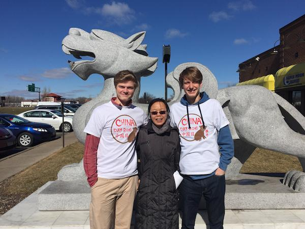 Juniors Carston Swenson and Owen Brown participated in China Day, which Sun helped the students attend.