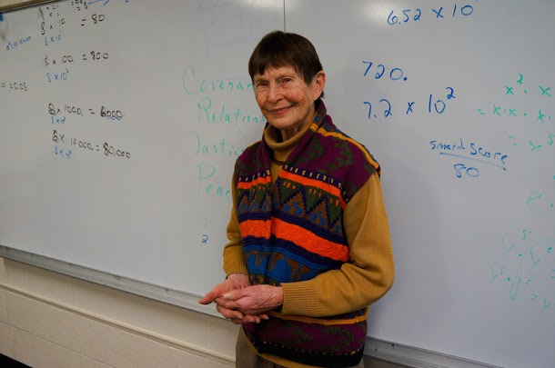 Ms. Elaine Barber is an ordained Episcopalian priest.