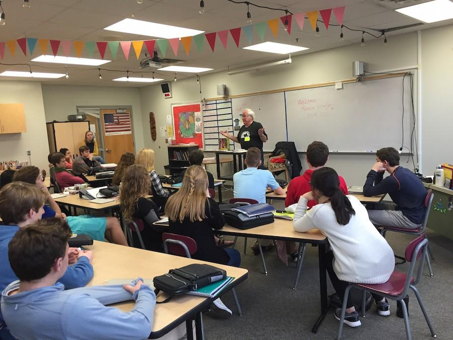 Mr. Richard Foley discussed his experiences in the Vietnam War with Discipleship classes.