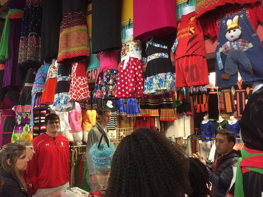 Immigrant Literature students visited the Hmongtown market during their field trip.
