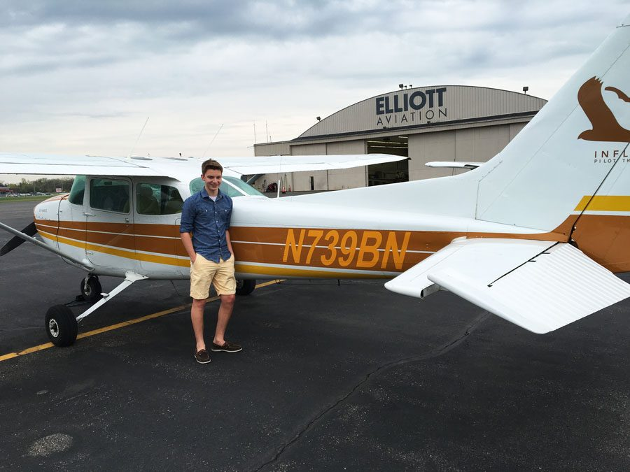 Junior Christopher Jones has been passionate about aviation since the age of 11.