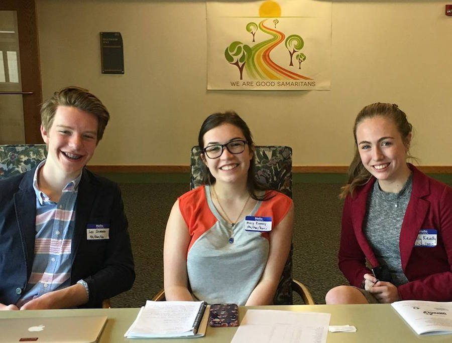 Juniors Leo Driessen, Macy Rooney, and Molly Keady lead the event.