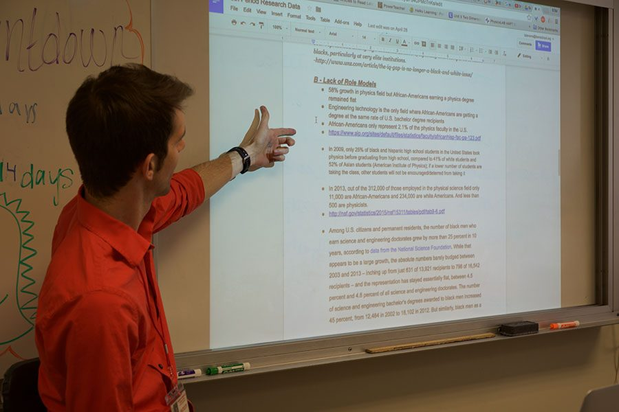 Physics Mr. Tanner Stevens introduced a new unit that centered around diversity, specifically in the Physics workforce.