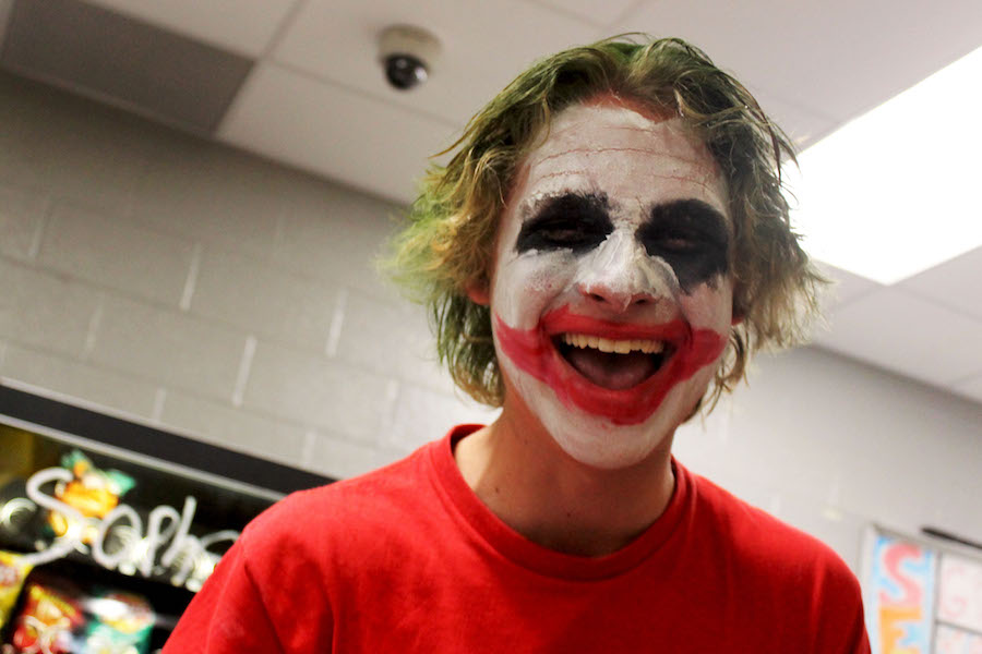 Junior Spencer Becker dressed up as the Joker for a school spirit day.