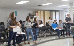Students begin rehearsals in the choir room practicing their vocals for the upcoming fall musical,