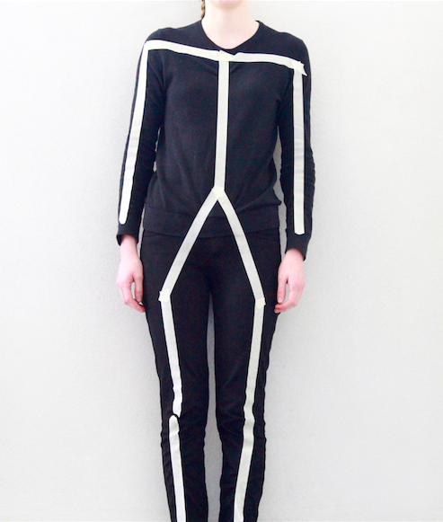 Going as a stick figure for Halloween is an easy and unique costume idea.