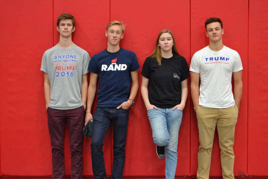 BSM students express their political views with election themed T-Shirts on election day 2016