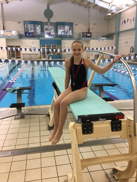 Claire Hennen has made her mark as the only diver representing Benilde-St. Margaret's