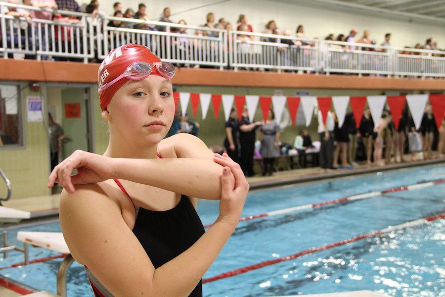 Senior+captain+and+six+time+state+competitor+Madison+Semler+is+about+to+jump+in+the+pool+and+make+some+waves.+