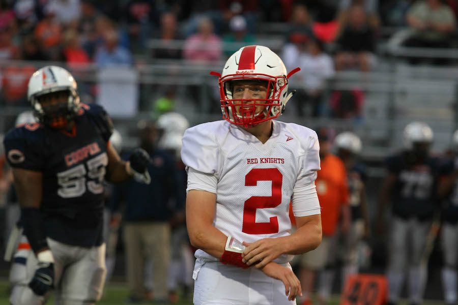 Senior quarterback Will Whitmore had another solid game under center for the Red Knights, as he recorded one passing and one rushing touchdown in BSM's 42-7 rout of Cloquet.