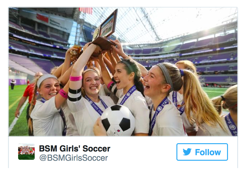 Girls' soccer wins second consecutive State A title with win over Mankato West