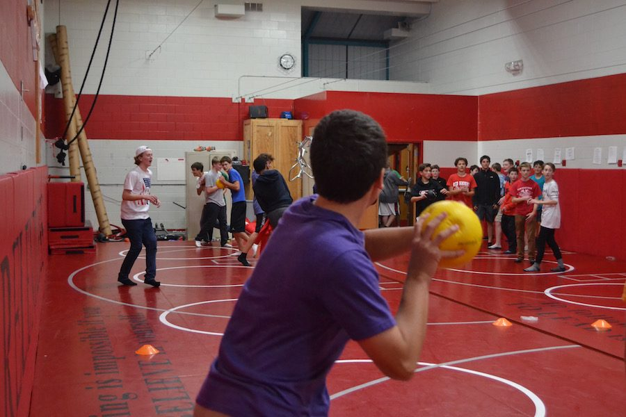 At the Freshtival, students got to play fun games like dodgeball.