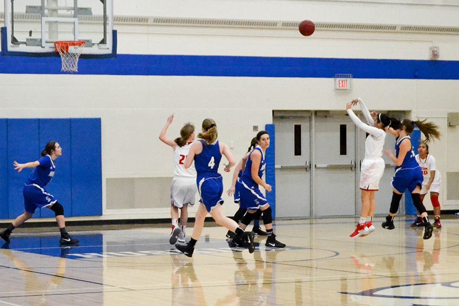 The girls' basketball is not afraid to take plenty of shots from behind the arc this season in order to reach their ultimate goal of winning the State Championship.