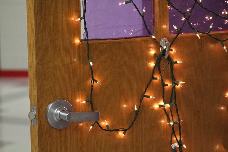 To decorate the hallways for the Advent season, students decorated the doors of their homerooms for a contest. The winners received donuts and milk during homeroom.