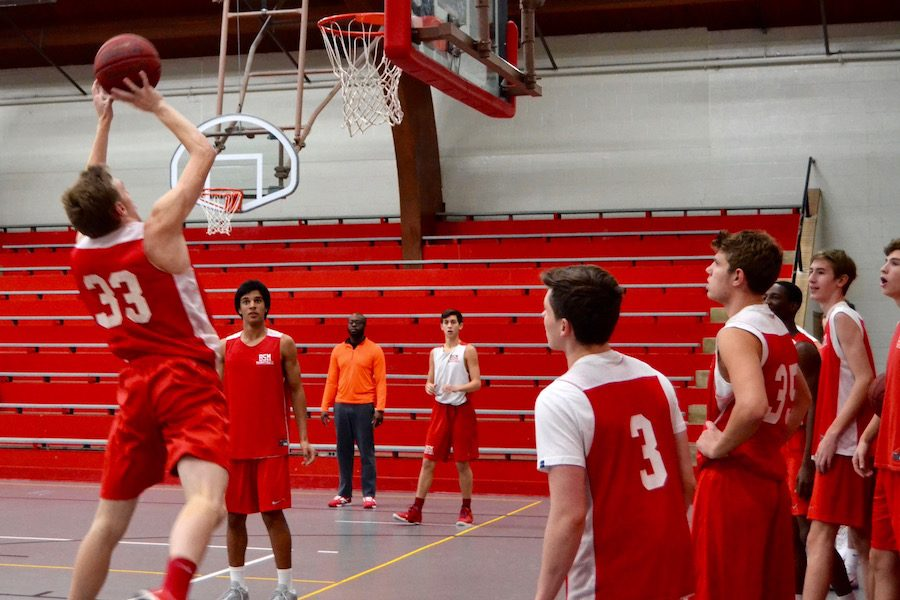Boys%27+basketball+is+putting+in+daily+work+in+order+to+achieve+their+goal+of+winning+the+State+Championship+this+season%2C+as+they+practice+every+day+in+the+Great+Hall+or+Haben+Center.+
