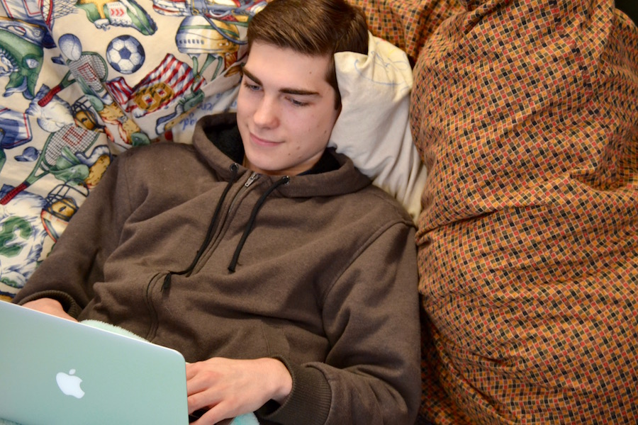Andrew Torrance smiles benevolently as he logs into his Netflix account with ease.