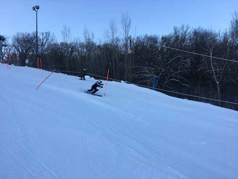 Freshman Abigail Swanson has solidified herself as the top athlete on the BSM girls' Alpine ski team.