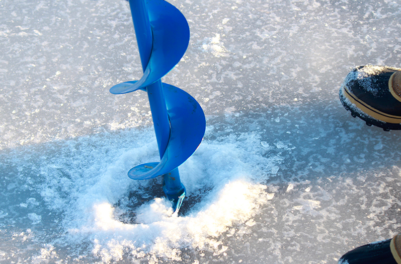 Students ignore the cold and go ice fishing knight errant for Go ice fish