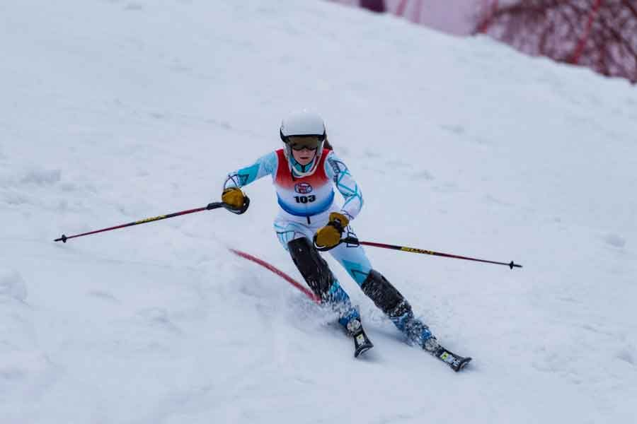 Freshman star girls' Alpine skier Abigail Swanson finished 39th at State last week; senior Matthew Tucker also competed at State for the boys' team.