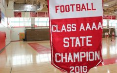 Today, a banner commemorating the 2016 championship victory hangs in the Haben Center.