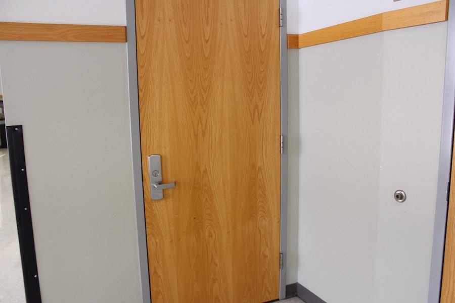 If you're ever late to a performance in the Hamburge Theater, use this door to be able to sneak in through the side and not disrupt the performance.