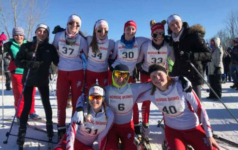 Nordic ski team places 7th for boys and 5th for girls at Section 6 Meet, sends two skiers to State Meet
