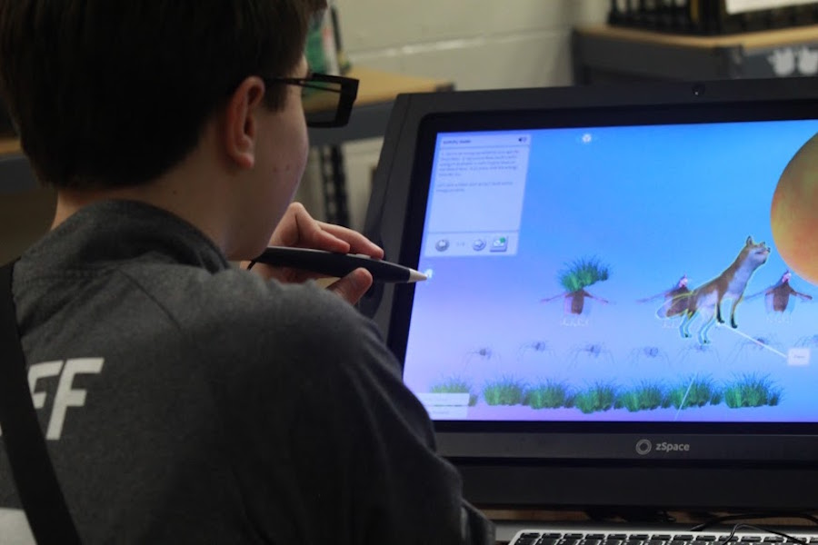 The zSpace unit offers 3D features that allows students to interact with technology in different applications in order to fully enhance the learning environment.