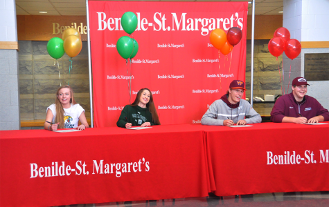 Four senior student-athletes sign to play for Division I programs
