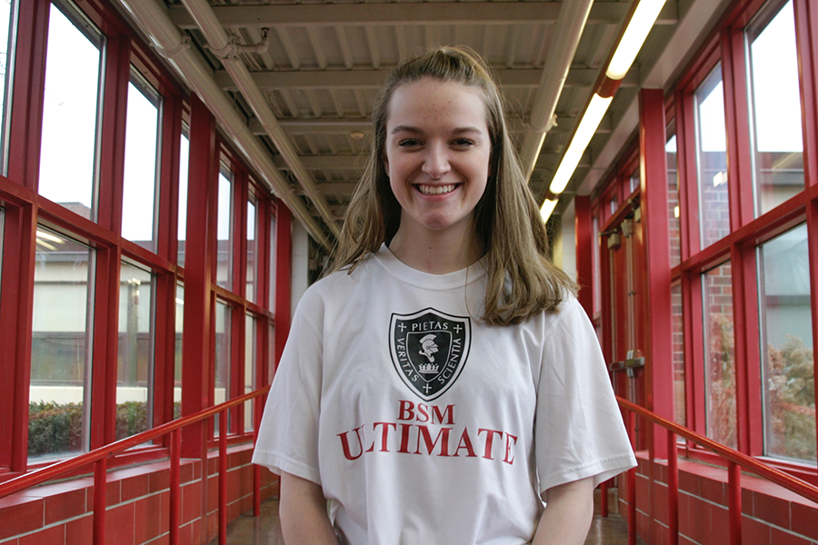 Paquette has worked hard to become a captain of the ultimate frisbee team during her sophomore year.