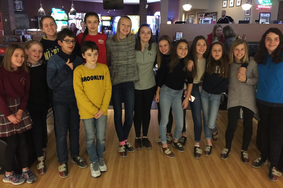 Many students from Versailles, France, came to the Junior High so that they could experience Minnesota. This involved participating in activities such as bowling and hockey.
