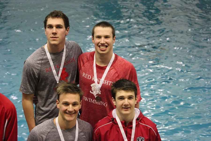 The BSM boys' swim team had five swimmers qualify for State on Friday at the Section 2A Meet last weekend, including the 400 Free Relay that broke the School record in the event.