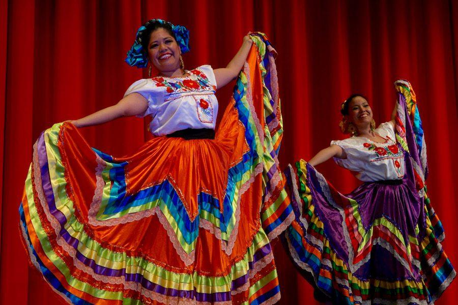 Spanish teacher Ms. Katy O'Brien is a professional Flamenco dancer, so she helped with the event.