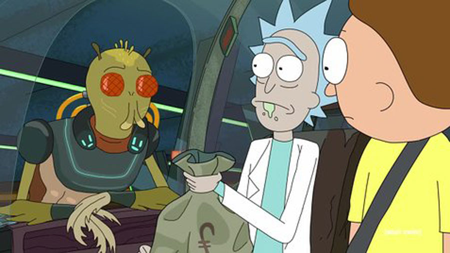 Rick and Morty have dozens of crazy adventures, like when they met the alien bounty hunter Krombopulos Michael.