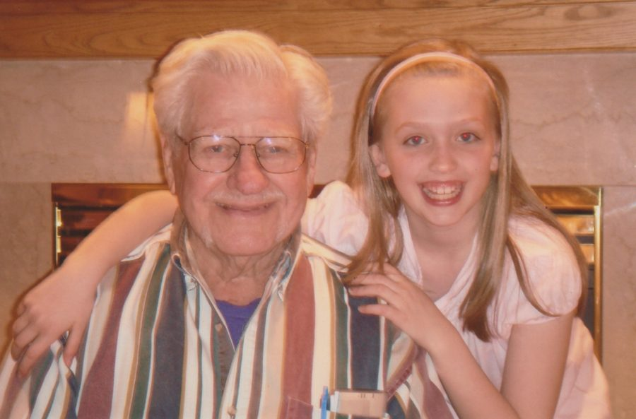 Maria Van Hove has coped with her loss of her grandfather, George Vos, by taking solace in the fact that he is now at peace.