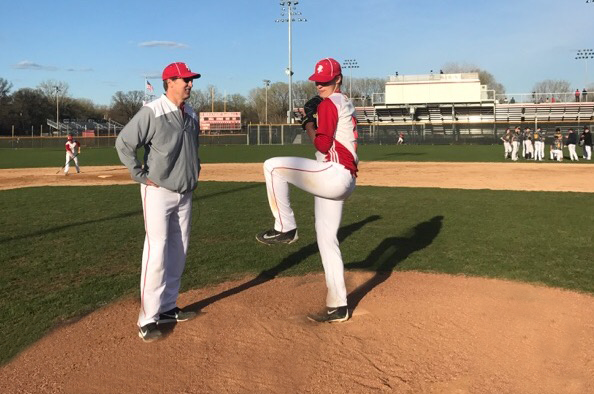 Senior pitcher Derek Drees and his father, Tom, have worked together to refine Derek's pitching mechanics for years, and will miss each other when Derek moves on to play collegiate baseball at Virginia Tech next year.