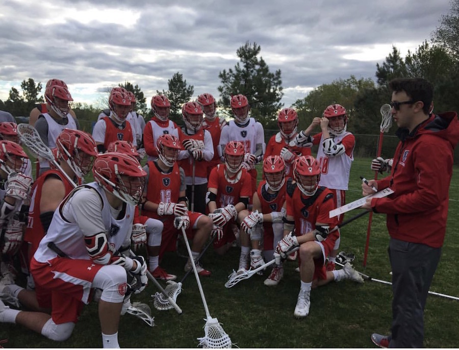 BSM lacrosse coach talks to BSM team to give guidance and share his insight.