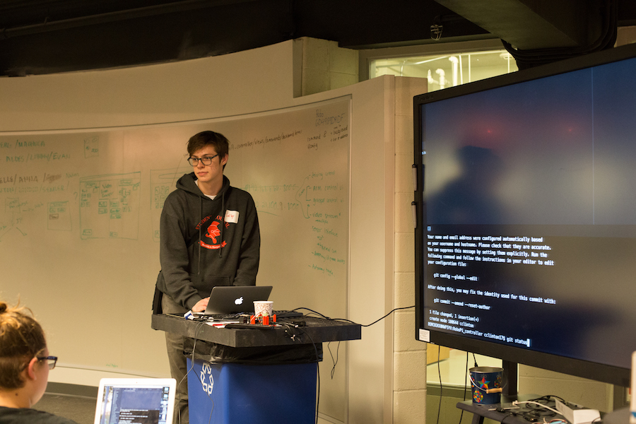 Engineering students have spent the past few months practicing their coding skills in preparation for the RoboCop tournament. At the Hackathon, they got to further practice their skills alongside Pearson workers.