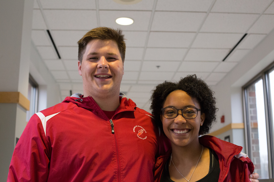 Senior Eric Wilson and sophomore Madison Johnson both broke records after only one meet this season.