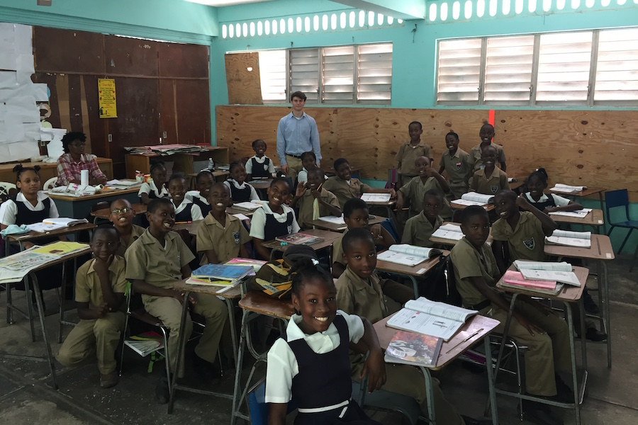 During her trip to Jamaica, LeBlanc and her son helped at a school as a teaching assistant. Help and donations were appreciated due to a shortage of supplies in the school.