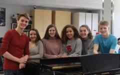 Many students from both choir and orchestra participated in the solo ensemble contest. Choir participants, pictured from left to right: Carson Knoer, Maddie Turk, Claire Shinners, Kailyn Pedersen, Maddie Schafer, and Ty Hansen.