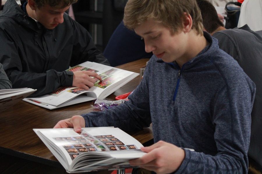 Cole Zeman, a sophomore,  enjoyed his first glance at the Sangraal.